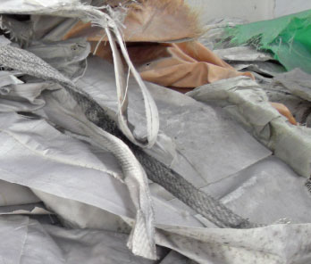 Waste Woven Bag Recycling Washing Line