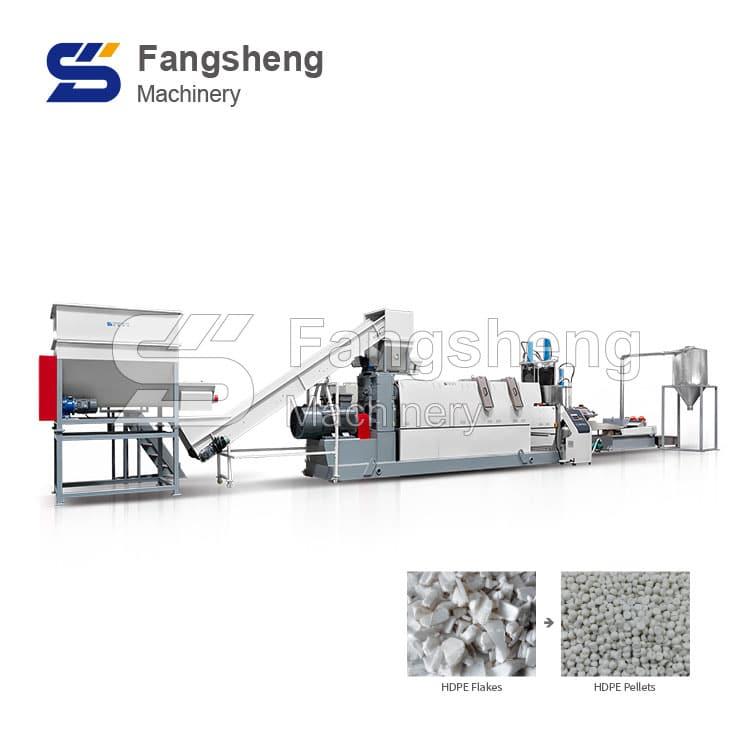 Hard Plastic Flakes Pelletizing Line
