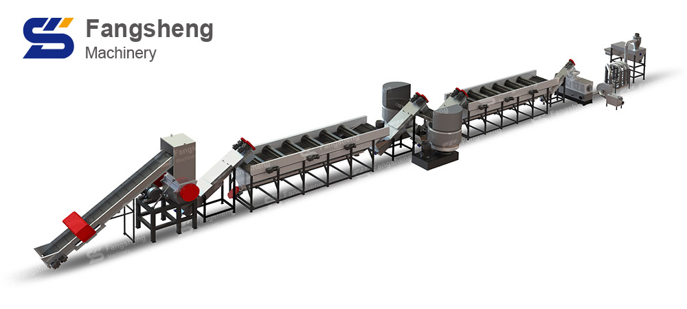PE PP Plastic Film Washing Recycling Line-fangsheng