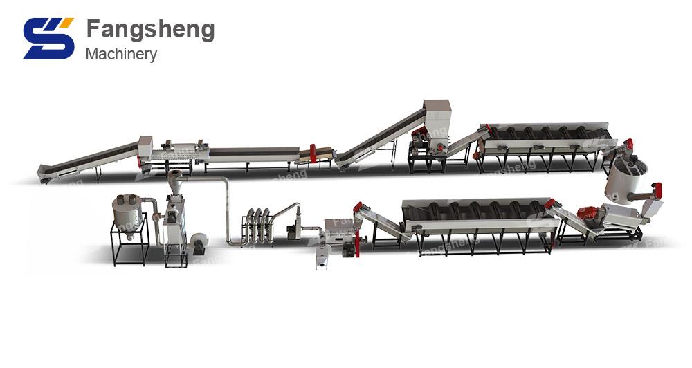 Daily Chemical Bottle Recycling Washing Line-fangsheng