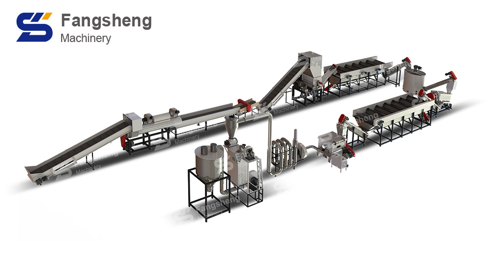 PP Barrels Recycling Washing Line-fangsheng