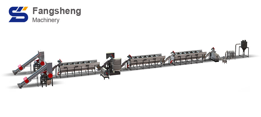 PP Woven Bag Recycling Washing Line-fangsheng