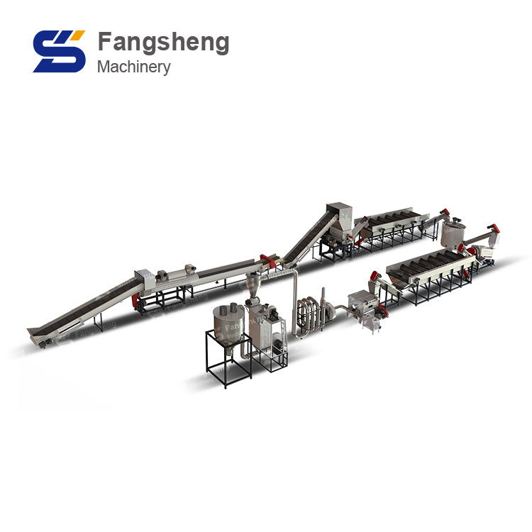 Waste Engine Oil Bottle Recycling Washing Line