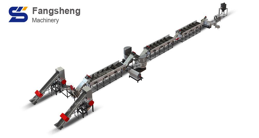 Waste Plastic Wrap Recycling Washing Line-fangsheng