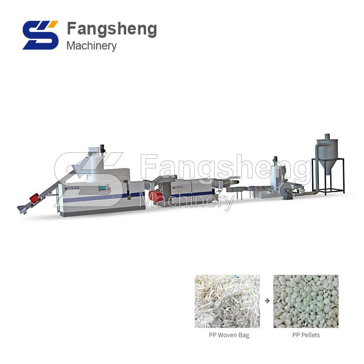 Double Stage Compactor Pelletizing Machine