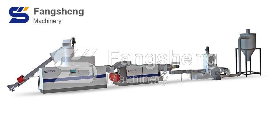 PE PP Double Stage Compactor Pelletizing Machine-fangsheng