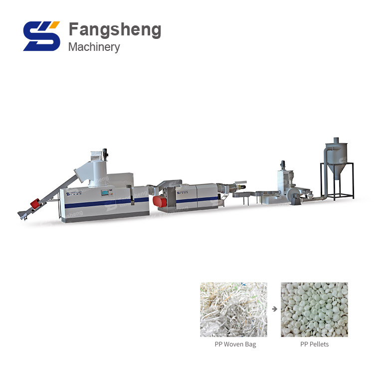 PE PP Double Stage Compactor Pelletizing Machine