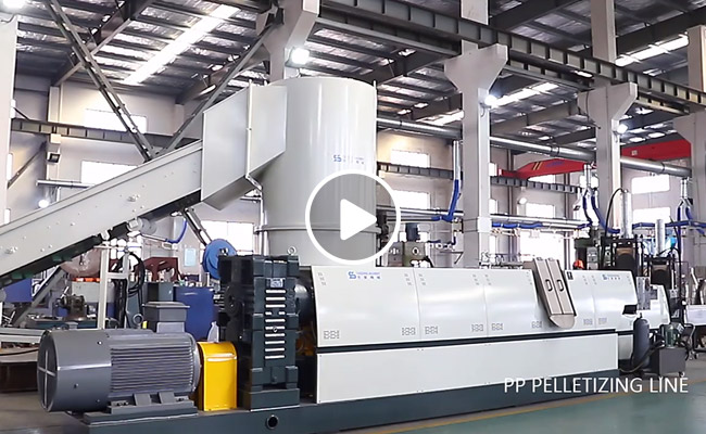 PP Compactor Pelletizing Line Video