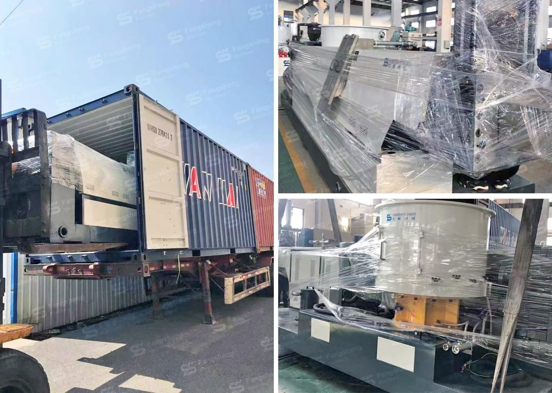 PP PE Film Compactor Granulation Line 500kg Shipped to South America-fangsheng